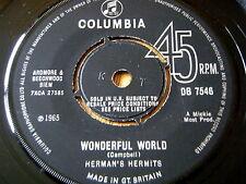 "HERMAN'S HERMITS - WONDERFUL WORLD     7"" VINYL"
