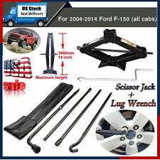 Spare Tire Tools Kit Scissor Jack W/-Handle+ Lug Wrench For 2004-2014 Ford F-150