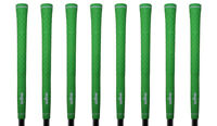 8 Majek Tour Pro Lime Green Men's Standard Size .580 Round Velvet Golf Grips