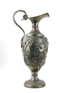 """ANTIQUE 18th CENTURY LARGE .800 SILVER EWER PITCHER 16.5"""" 53 OZ NOT WEIGHTED"""