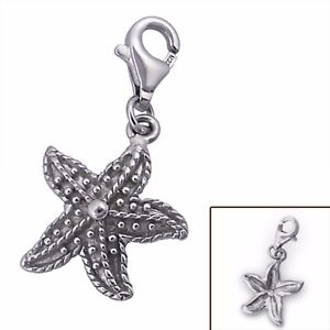 Silvadore STARFISH Sea RP 925 Sterling Silver Clip On Charm Bracelet Box 349