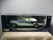 1/18 SCALE MOTORMAX BLUE 1957 BUICK ROADMASTER