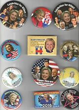 2016 pin HILLARY Clinton pinback Campaign buttonCollection of 26 DIFFERENT !!!