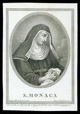 santino incisione 1800 S.MONICA