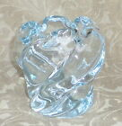 ORREFORS CRYSTAL ICE BLUE TWISTED GLASS WATERFALL VASE EDVIN OHRSTROM SIGNED