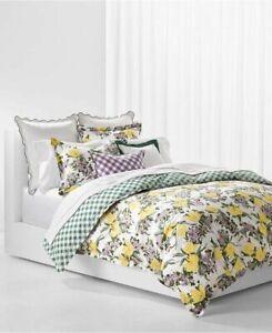 New $335 Ralph Lauren Marabella Floral Yellow Green Queen 3-Piece Comforter Set