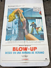 BLOW UP 27x41 One-Sheet Spanish Poster Vanessa Redgrave 1966 film Good Condition