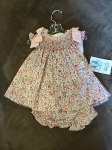 NWT Maria Casero Luli & Me Floral Smocked Dress Sz 6m