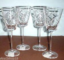 Martha Stewart Wedgwood Trellis Goblet SET/4 Crystal Glasses 9 oz New