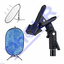 Phot-R Photo Studio Clamp Clip Holder for 5in1 Reflector Background Light Stands