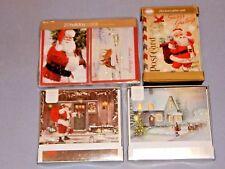 "Lot of 4 - Holiday Christmas Greeting Cards - ""St. Nicholas, Santa"" - 68 Cards!"