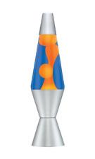 Lava Lamp 14.5 Inch In Orange/Blue, Aluminium,