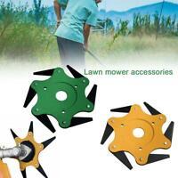 Outdoor Trimmer Head 6 Steel Blades Razors 65Mn Lawn Mower Grass Weed Cutter Top