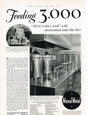 1933 Monel Metal Stainless Steel Kitchen Cabinets Vtg Print Ad