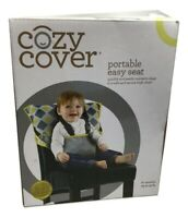 Cozy Cover Easy Seat Portable High Chair (Charcoal w/Yellow) - Quick, Easy
