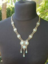 Native American Navajo Silver & Turquoise Necklace