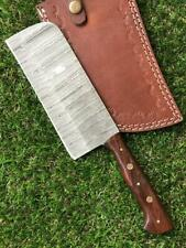 CUSTOM HANDMADE TWIST DAMASCUS STEEL CLEAVER KNIFE M 237