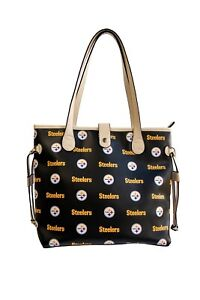 Pittsburgh Steelers Woman's Patterned Tote Hand Bag NFL Authentic by Littlearth