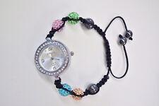 Strada Multicolored Disco Ball Austrian Crystal Watch/Bracelet Adjustable NIB