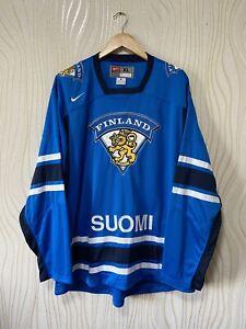 FINLAND ICE HOCKEY SHIRT JERSEY NIKE 337163-415 BLUE TRIKOT sz XL