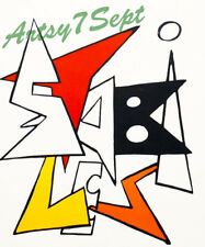Alexander Calder STABILES 1963 Color Lithograph! FREE FRAMING/SHIPPING!