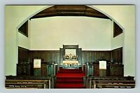 Beckley WV, Interior, First Methodist Church, Chrome West Virginia Postcard