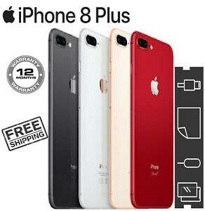 Apple iPhone 8 Plus 64GB 128GB 256GB Unlocked SIM Free Smartphone Colour + GIFTS
