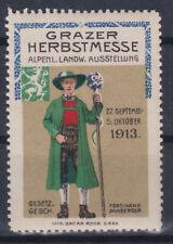 Reklamemarke Grazer Messe 27. September - 5. Oktober 1913