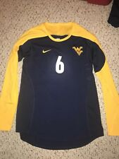 Nike West Virginia Mountaineers #6 Womens Volleyball L/S Navy Game Jersey *L*