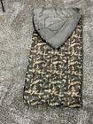 "Children's Sleeping Bag Brown Camouflage 54"" In Length 28"" In Width GUC"