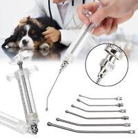 Vétérinaire Plastique Injecteur Seringue Feeding Kit Curved Gavage Tube