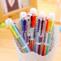 Stationery Multi-Color Ballpoint Pen 6 Colors Ballpoint Pen Student Study Pens;~
