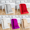 NEW LUXURY CRUSHED VELVET SUPER SOFT SHERPA THROW BLANKET MODERN SOFA BED ROOM