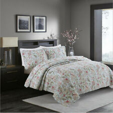 Floral Patchwork Coverlet Quilted Bedspreads Set Queen Size Bed Covers Blanket