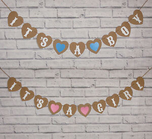 IT'S A BOY IT'S A GIRL BABY SHOWER CHRISTENING BUNTING NURSERY GARLAND BANNER