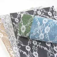 A4 Lace Glitter Faux Leather Leatherette Fabric Sheets DIY Handmade Bows