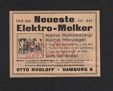 Hambourg, l'affichage 1929, Otto rudloff électro-trayeur