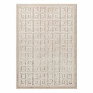 Lustrous Woven Soft Dense Modern Rugs With Splashes Gold Grey Square Design
