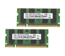 4GB 2x 2GB PC2-5300 DDR2-667MHz 200Pin Sodimm Laptop Notebook Memory RAM #HP6954