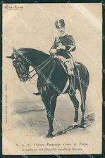 Reali V Reggimento Lancieri di Novara Vittorio Emanuele cartolina XF2059