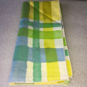NICE COLORFUL DESIGN NAPKIN WITH YELLOWS,GREENS,BLUES AND WHITE