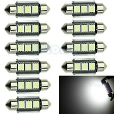 10x 3-LED 39mm 5050 SMD Canbus Error Free 6418 Car Interior Festoon Light Bulb