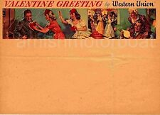 Valentine Greeting by Western Union blank