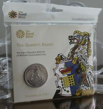 Royal Mint 2019 Queen's Beasts Yale of Beaufort £5 UK BU Coin Pack New Sealed