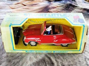 Vintage Stuart Little RadioShack RC Remote Control Roadster Red Car 1999