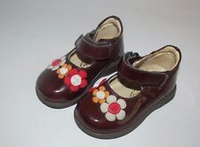 She be baby Italy infant girls dress shoes 3.5 19 EURO flowers mary jane brown