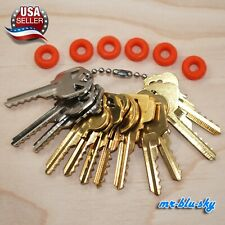 Cut Key Set of 12 (Residential) with 6 Rubber Rings, Lockout, Locksmith Key Sets