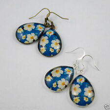 Glass Bronze Handcrafted Earrings