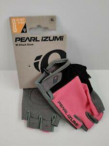 Pearl Izumi Attack Bike Gloves Women Size XLarge Sugar Coral Color Half Fingers
