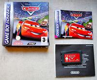 Jeu CARS QUATRE ROUES (Disney) Complet sur Nintendo Game Boy Advance GBA